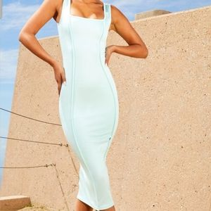 Pretty Little Thing Aqua Bodycon Dress